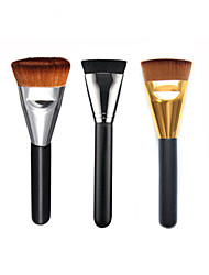 Professional Makeup Brush Flat Long Soft Contour Foundation Blush Brush Synthetic Hair Face Cosmetics Beauty Tools 3 Color Y6