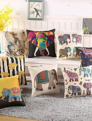 1 Pcs Classic Elephant Printing Pillow Case 8 Design Vintage Elephant Pillow Cover Cotton/Linen