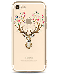 For Apple iPhone 7 7 Plus 6S 6 Plus Case Cover Deer Pattern Painted High Penetration TPU Material Soft Case Phone Case