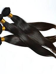 Ciocche a onde capelli veri Brasiliano dritto 18 mesi 4 pezzi tesse capelli