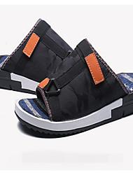 Men's Sandals Denim Spring White Black Blue Flat