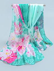 Chiffon Scarves Korea Scarf Shawl Thin Long Rectangle Women's Beach UV Sunscreen Bohemia Retro Print Chrismas Gift