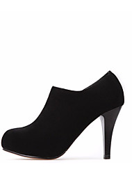Для женщин Ботинки Полиуретан Весна Черный 7 - 9,5 см