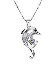 Femme Pendentif de collier Forme d'Animal Plaqué or Animal Le style mignon Simple Style Bijoux Pour Soirée Anniversaire Quotidien 1pc