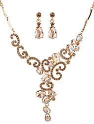Women's Jewelry Set Crystal Unique Design Alloy Oval For Wedding Anniversary Housewarming Event/Party Wedding Gifts