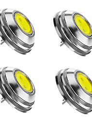 4 x G4 GU4 GZ4 MR11 2W 120-150LM COB LED 180LM  White/Cold/ Warm White Lamp Spotlight Spot Light Bulbs Cool White DC12V