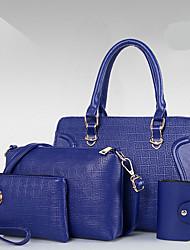 Damen Bag Sets PU Ganzjährig Reißverschluss Blau Gold Schwarz Rote