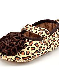 Kinder Loafers & Slip-Ons Stoff Sommer Herbst Tierdruck Blume Flacher Absatz Braun Flach