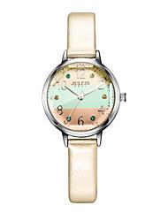 Women's Fashion Watch Bracelet Watch Japanese Quartz Water Resistant / Water Proof Leather Band Sparkle Dot White Blue Orange Grey Pink