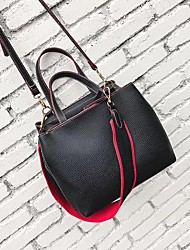 Fashion female bag litchi grain pillow bag Soft leather joker inclined shoulder bag Wide straps one shoulder bag