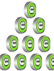 Rolamentos de esferas radiais blindadas metálicas 608r 21mm x 7mm rolamentos rígidos de esferas para brinquedo de spinner de fidget --- 10