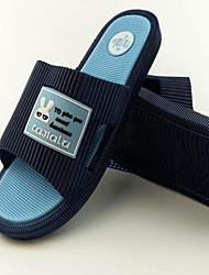 Men's Slippers & Flip-Flops Comfort Rubber Spring Casual Light Grey Dark Grey Navy Blue Flat