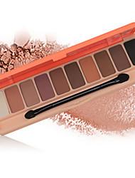 10*6 Paleta de Sombras Mate Brilho Paleta da sombra Maquiagem Esfumada Maquiagem para o Dia A Dia