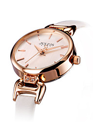 Women's Fashion Watch Japanese Quartz Water Resistant / Water Proof Leather Band Casual Black White Blue Gold