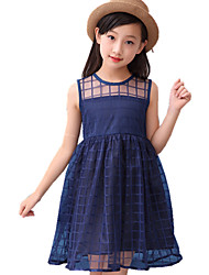 Girl's Sports Polka Dot Dress,Cotton All Seasons Spring Fall Long Sleeve