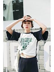 Damen T-Shirt-Ärmel Hose Anzüge,Rundhalsausschnitt Frühling Herbst Kurzarm