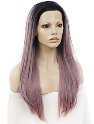 Celebritywig 24inch Mix Gray wigs Black Root Long Straight Synthetic Hair Lace Wigs Can Be Restyled Quality Guarantee