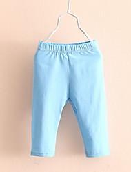 Girls' Pants Baby 2017 Summer Wear Leggings Korean Children's Clothing Female children's Mid Length Pant