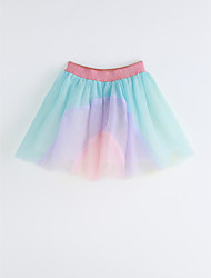 Girls Rainbow Skirt-Cotton Summer