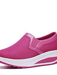 Women's Loafers & Slip-Ons Tulle Summer Fall Walking Platform Black Dark Blue Gray Fuchsia 4in-4 3/4in