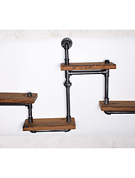 American Country Wrought Iron Furniture Industry Pipe Retro Creative Hanging on the Wall Shelves Wall Shelving-FJ-ZN1Y-007A0