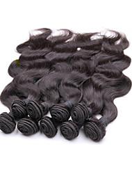 Pelo virginal de la mejor onda brasileña del cuerpo de la venta al por mayor 1kg 10bundles porción color natural original del pelo del