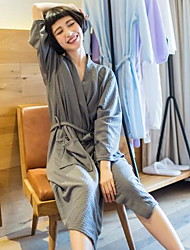 Bath RobeSolid High Quality 100% Cotton Towel Waffle Fabric