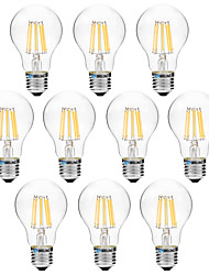 8W LED лампы накаливания A60(A19) 8 COB 600 lm Тёплый белый Белый V 10 шт.