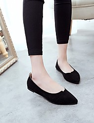 Women's Loafers & Slip-Ons Comfort Real Leather PU Spring Summer Casual Comfort Light Grey Black Flat