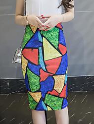 Femme Soirée Genou Jupes,Moulante Géométrique Eté