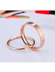 Ring Engagement Fated To Love You Fashion Simple Style Classic Rose Gold Ring  Wedding Anniversary Daily 2PCS 1Set