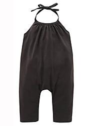 Girl's Fashion Pure Cotton Condole Sleeveless Jumpsuits Ha Clothing Baby Climb Clothes