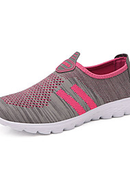 Unisex Sneakers Couple Shoes Light Soles Tulle Summer Fall Athletic Casual Peach Fuchsia Purple 1in-1 3/4in