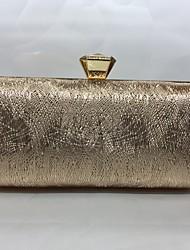 Abendtasche PU Druck-Verschluss Champagner Gold Schwarz Silber Kaffee