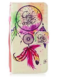 Pour apple iphone 7 7 plus 6s 6 plus se 5s 5 housses coques de vent motif peint pu matériel de peau carte stent portefeuille étui pour