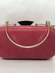 Вечерняя сумочка Полиуретан Замок с защелкой Черный Красный Абрикосовый Серый Фиалково-розовый