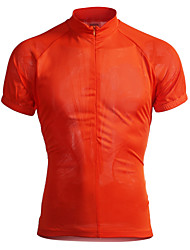 Jaggad Cycling Jersey Men's Short Sleeve Bike Jersey Tops Quick Dry Breathable Polyester Elastane Solid Summer Cycling/Bike