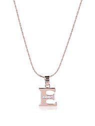 Women's Men's Pendant Necklaces AAA Cubic Zirconia Alphabet Shape Rose Gold Zircon CopperUnique Design Dangling Style Sexy Magnetic