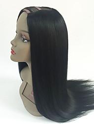 Melhor qualidade 7a sedosa reta virgem brasileira u parte cabelo humano perucas 2x4inch parte do meio parte parte da peruca para mulheres