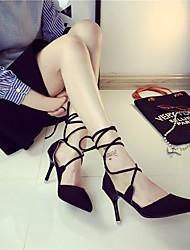 Mujer Tacones Confort PU Verano Casual Confort Negro Rojo 5 - 7 cms