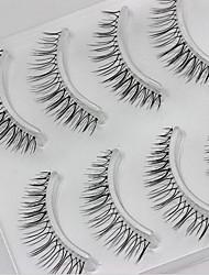 4 Pairs Wear The False Eyelash Of The False Eyelash To Dress With Realistic Eyelash Cross Transparent Stem