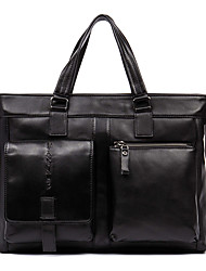Men Tote Cowhide All Seasons Business Bag Briefcase High Quality Cowhide Laptop Bag Male Trendy Handbag Men Leisure D90019-1