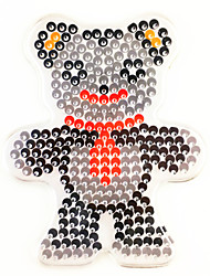 1PCS 5MM Fuse Beads Clear Template Pegboard Stencil Teddy Bear Shape Hama Perler Beads Pegboard Kid DIY Handmaking Educational Craft Jigsaw Toy