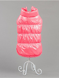 Dog Vest Dog Clothes Casual/Daily Keep Warm Solid Gray Coffee Ruby Blue Blushing Pink