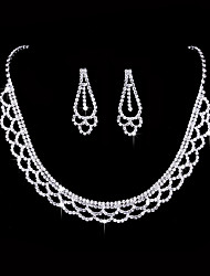 Women's Drop Earrings Choker Necklaces Bridal Jewelry Sets  Love Fashion Vintage Elegant Silver Cubic Zirconia Jewelry For Wedding / Party & Evening