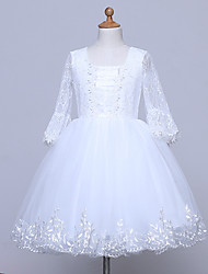 BONJEAN A-line Knee-length Flower Girl Dress Square with