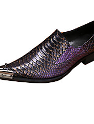 Для мужчин обувь Кожа Весна Осень Удобная обувь Оригинальная обувь Формальная обувь Мокасины и Свитер Для прогулок С металлическим носком