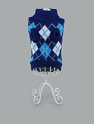 Hund Pullover Hundekleidung Lässig/Alltäglich Geometrisch Fuchsia Grün Blau Rosa Hellblau