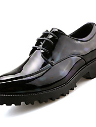 Для мужчин обувь Полиуретан Весна Осень Гладиаторы Туфли на шнуровке Шнуровка Назначение Повседневные Черный Красный Зеленый