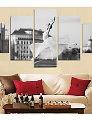 Art Print Abstract Portrait Modern Five Panels Horizontal Print Wall Decor For Home Decoration